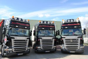 KURZ Karkassenhandel - LKW Flotte von KURZ