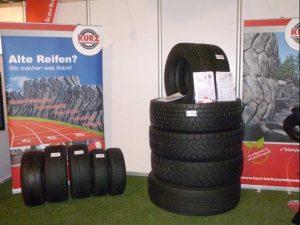 KURZ karkassenhandel - Messestand Reifen