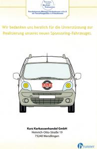 KURZ Karkassenhandel - Sponsoringurkunde Tierschutzverein Nürtingen Frickenhausen