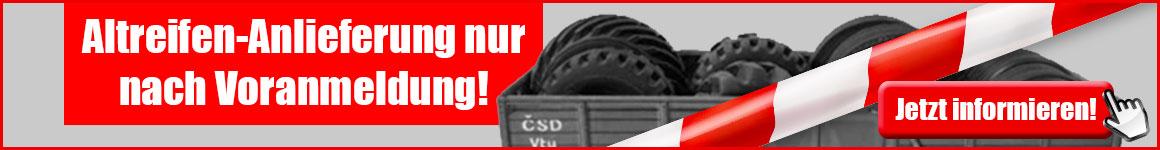 KURZ Karkassenhandel - Altreifen-Anlieferung nur nach Voranmeldung