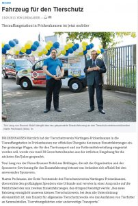 KURZ Karkassenhandel - Nürtinger Zeitung: Fahrzeug für den Tierschutz
