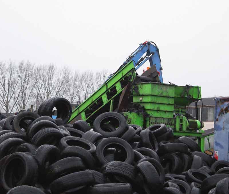 KURZ Karkassenhandel - Reifen in der Entsorgungsanlage