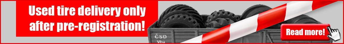 KURZ banner website Altreifen-Anlieferung nur nach Voranmeldung EN