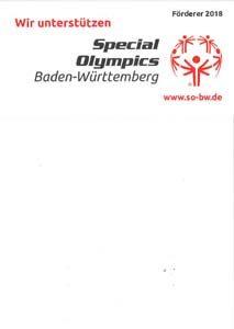 KURZ Karkassenhandel - Wir unterstützen Special Olympics 2018