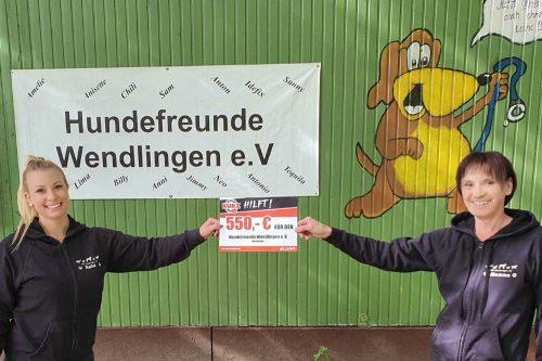Spendenempfänger KURZ Jubiläum Hundefreunde Wendlingen e.V.
